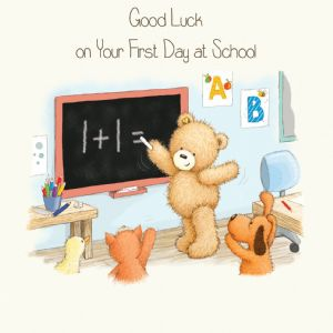 First Day At School Good Luck Card